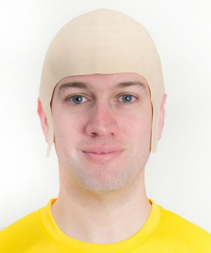 Football Fancy Dress Bald Head Cap Wig